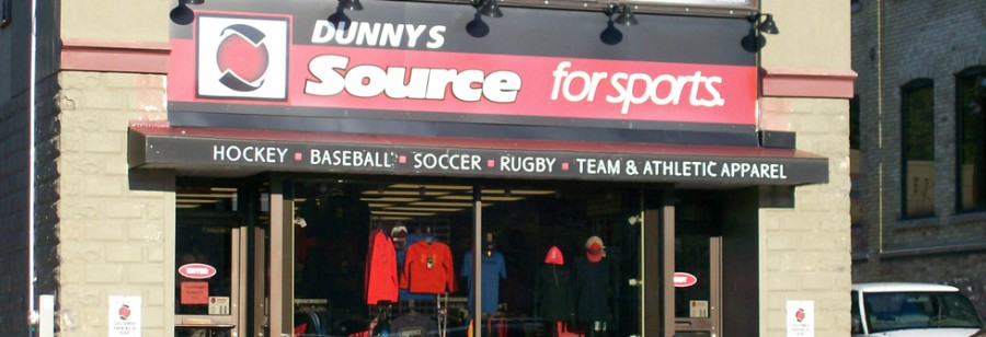 Logo for Dunny's Source for Sports